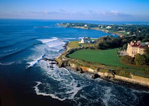 The coastline at Newport, Rhode Island