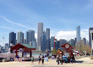 Navy Pier and Chicago skyline