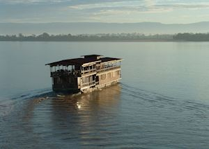 Wat Phou Rice Barge in the 4000 islands